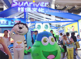 祥源文化携翔通动漫绿豆蛙、其卡通两大旗下品牌亮相第十五届中国国际动漫节